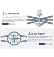 sea adventure pages collection vector image vector image