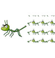 seamless background design with stick insect vector image vector image