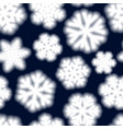 seamless pattern of big blurry snowflakes vector image vector image