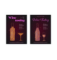 set banners for wine festival posters for wine vector image vector image