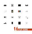 set of 16 editable home icons includes symbols vector image vector image