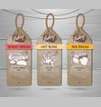 set of restaurant labels of bakery menu design vector image vector image