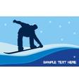 snowboarding vector image vector image