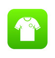 Soccer shirt icon digital green vector image