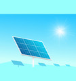 solar panels in farm with blue sky and sun light vector image