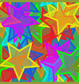 star seamless wallpaper vector image