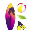 summer collection elements vector image