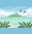 summer tropical island tropical paradise vector image vector image