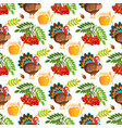thanksgiving seamless pattern background autumn vector image vector image