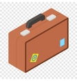 Tourist bag isometric 3d icon vector image vector image