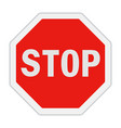 traffic sign stop vector image