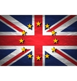 United Kingdom and European union flags combined vector image vector image