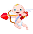 Valentines Day Cupid vector image