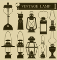 vintage lamp i vector image vector image