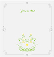 Wedding floral card with place for text vector image vector image