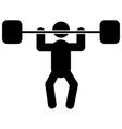 weightlifter glyph icon vector image