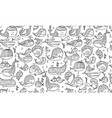 whales collection seamless pattern for your vector image vector image