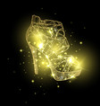 woman sandals or lady shoes golden espadrille vector image vector image