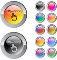 Www click multicolor round button vector image vector image