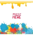 Yellow colored rainbow splash paint vector image vector image