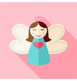 Girl cute angel vector image