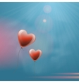 Heart balloons in the sky vector image
