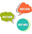 win word set of stickers labels tags Template vector image