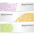 mosaic banners set vector image