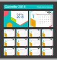 2018 calendar desk calendar modern design vector image