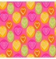 Abstract bright hearts vector image vector image