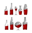 Alcohol drinks set vector image