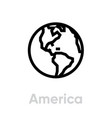 america icon editable outline vector image