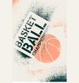 basketball championship stencil spray poster vector image vector image