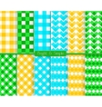 Bright and simple blue orange and green squares
