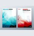 Brochure cover set template for brochure banner vector image