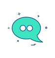 chat sms comment talk icon design vector image