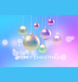 christmas blurred pink and blue background with vector image vector image