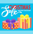 christmas sale holidays discount presents banner vector image vector image