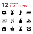 classic icons vector image vector image