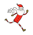 comic cartoon running santa vector image vector image