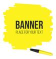 creative of highlighter pen vector image