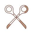 cute shadow scissors cartoon vector image vector image