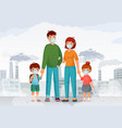 family protection from contaminated air people in vector image vector image