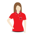 Female shirt template on the mannequin vector image