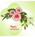 Floral composition Bouquet of flowers on soft vector image