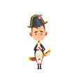 funny napoleon bonaparte cartoon character comic vector image vector image