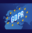 gdpr text design with vector image vector image