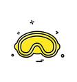 goggles icon design vector image vector image