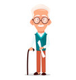 grandfather wearing eyeglasses vector image