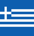 greek flag flat layout vector image vector image
